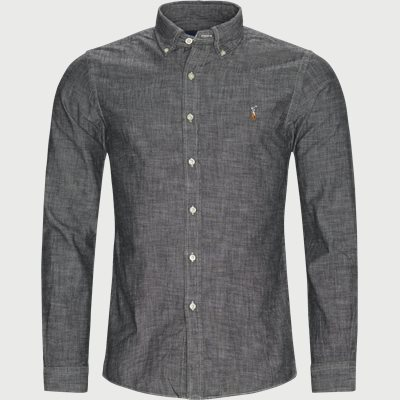 Chambray Slim Fit Shirt Slim | Chambray Slim Fit Shirt | Grå