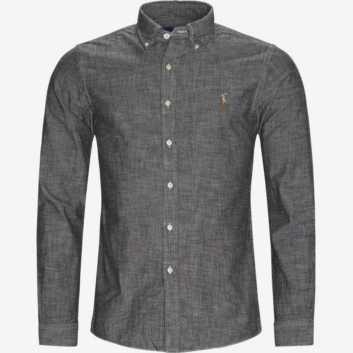 Chambray Slim Fit Shirt - Skjorter - Slim - Grå