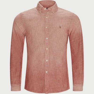 Chambray Slim Fit Shirt Slim | Chambray Slim Fit Shirt | Rød