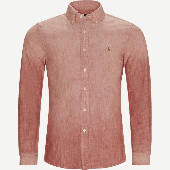 Chambray Slim Fit Shirt - Skjorter - Slim - Rød