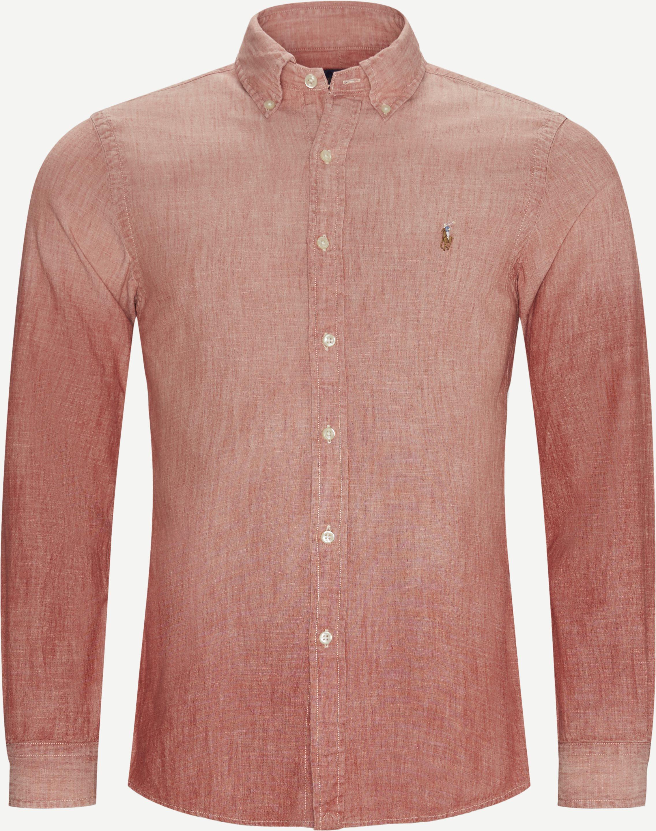 Skjortor - Slim fit - Röd