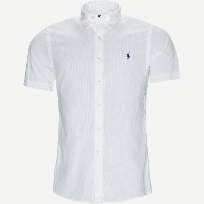 Seersucker Shirt - Kortærmede skjorter - Slim - Hvid