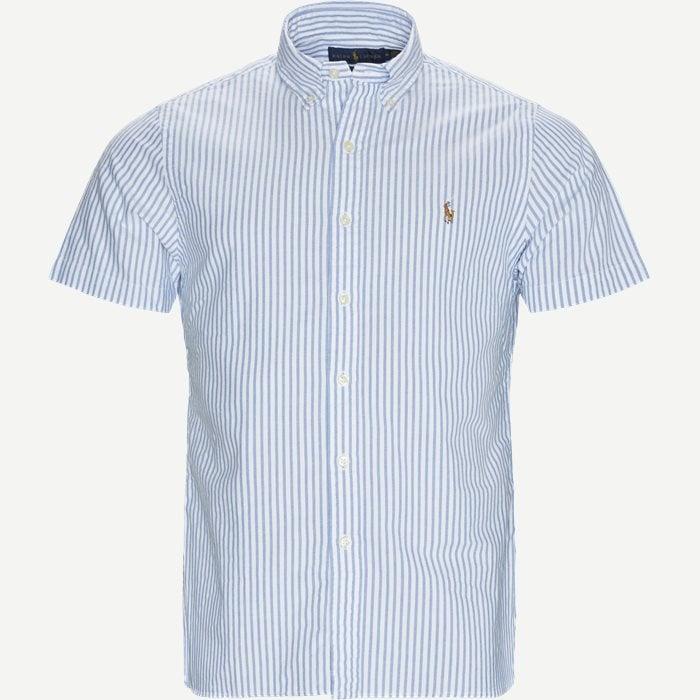 Cotton SS Shirt - Kortærmede skjorter - Slim - Blå