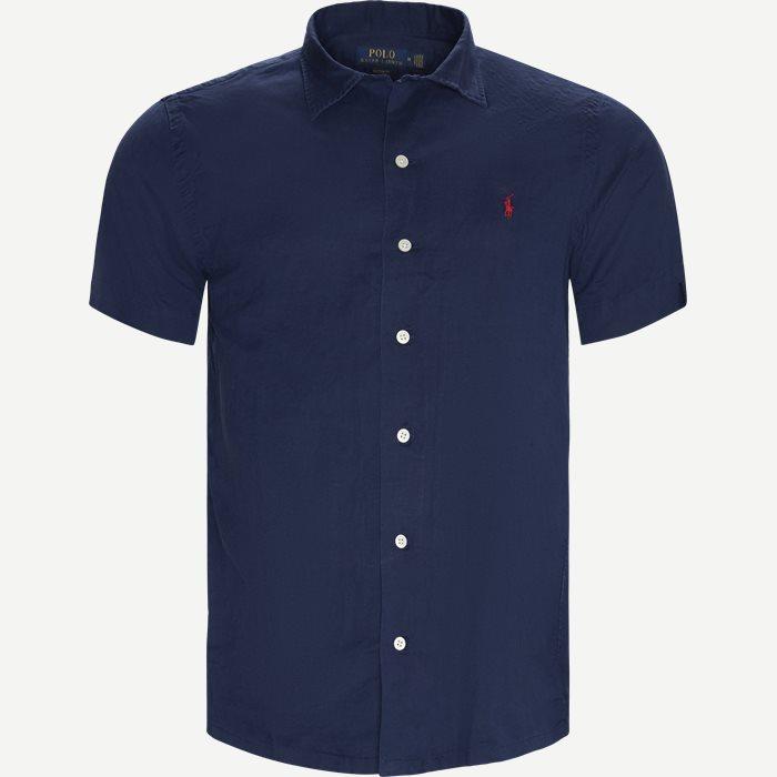 Short Sleeved Custom Fit Shirt - Kortærmede skjorter - Custom fit - Blå