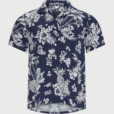 Tropical Bear Shirt Custom fit | Tropical Bear Shirt | Blå