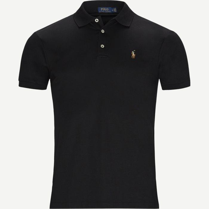 Classic Slim Fit Polo T-shirt - T-shirts - Slim - Sort