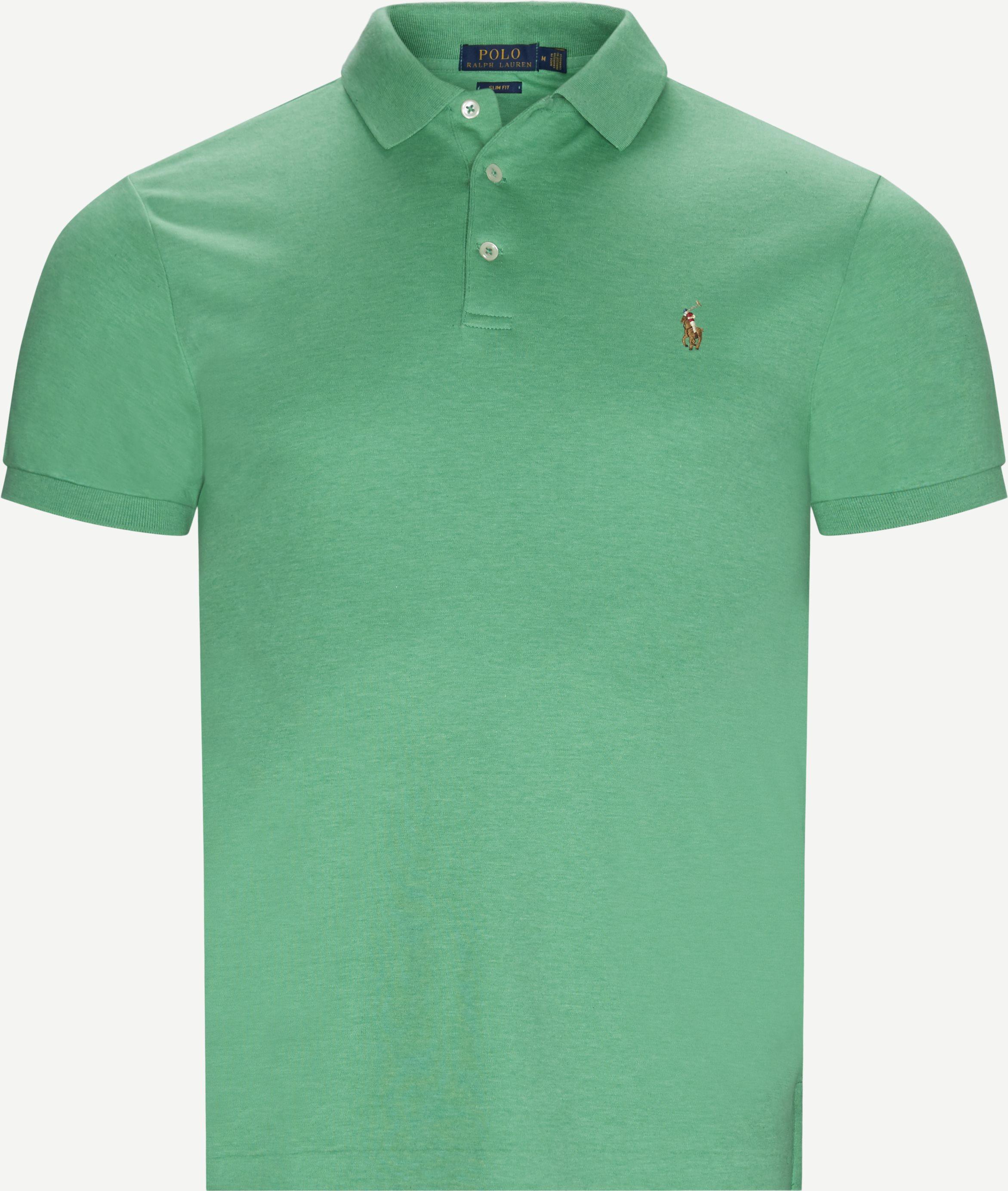 T-shirts - Slim - Grön