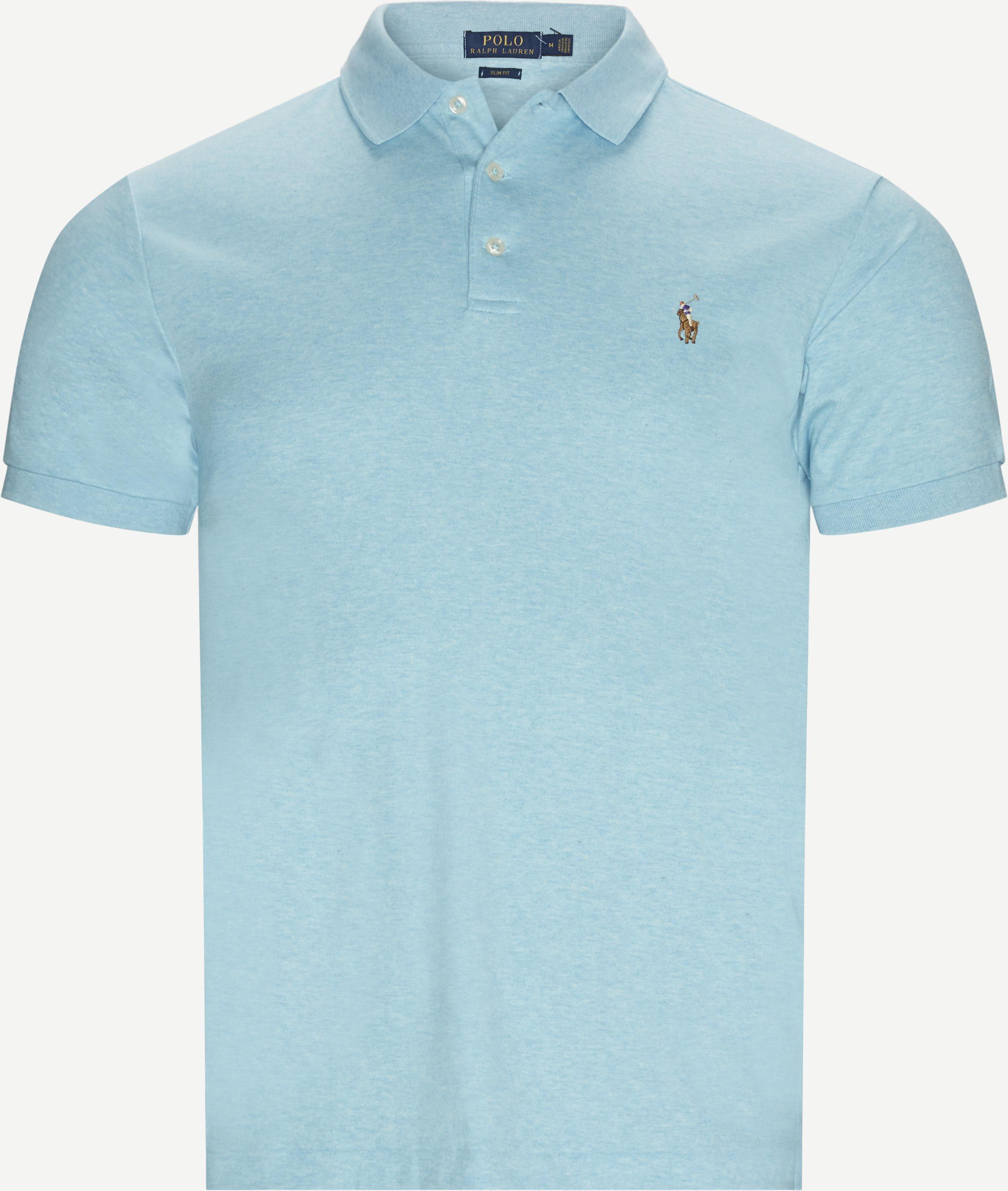 T-shirts - Slim - Turquoise