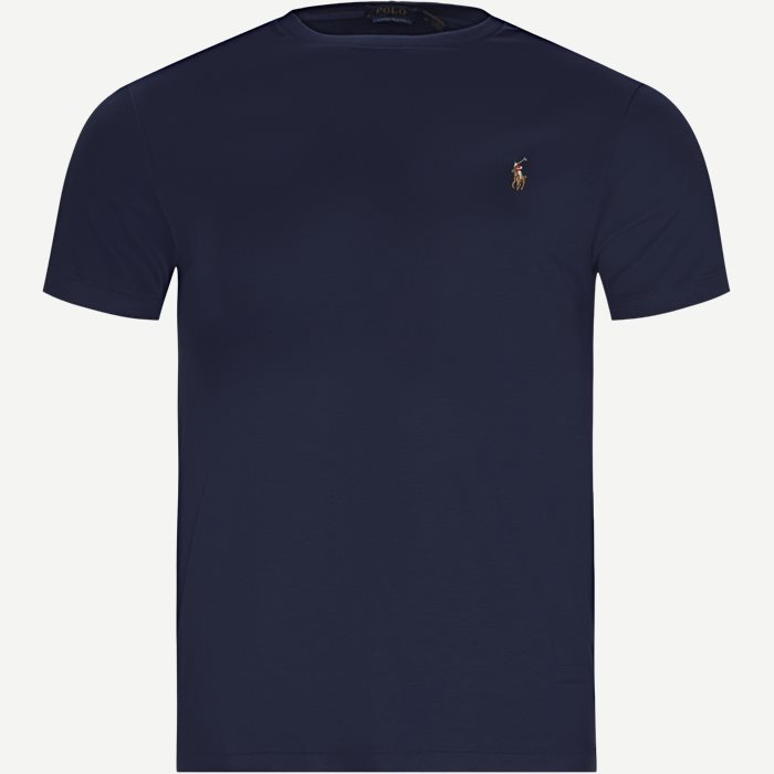 T-shirts - Regular slim fit - Blå