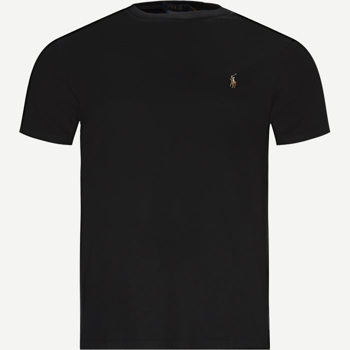 T-shirts - Regular slim fit - Svart
