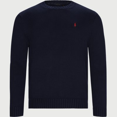 Cotton Crew Neck Jumper Regular | Cotton Crew Neck Jumper | Blå