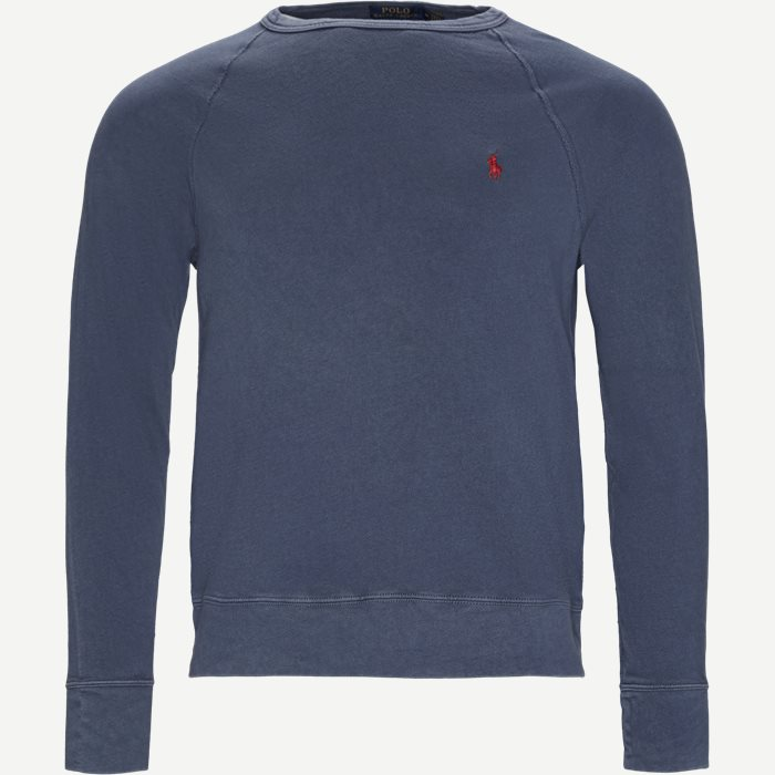 Cotton Crew Neck Sweatshirt - Sweatshirts - Regular - Denim