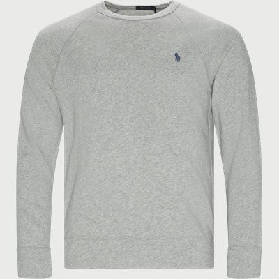 Cotton Crew Neck Sweatshirt Regular | Cotton Crew Neck Sweatshirt | Grå