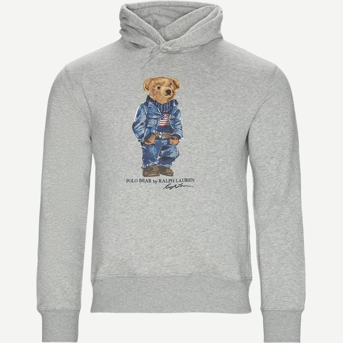 Polo Bear Fleece Hoodie - Sweatshirts - Regular - Grå