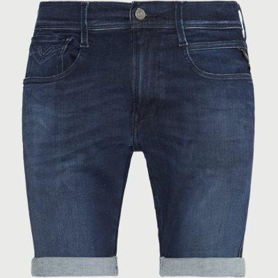 Slim | Shorts | Jeans-Blau