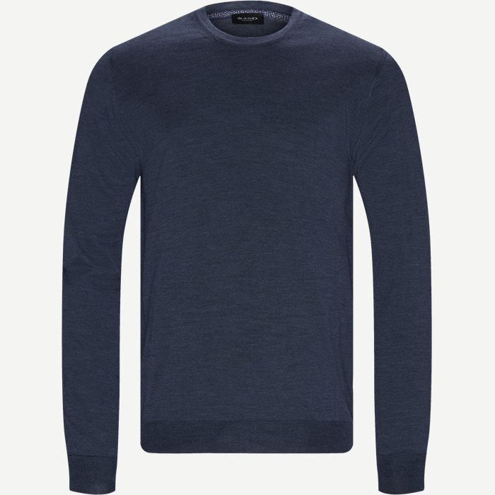 Cool Wool IQ Striktrøje - Strik - Regular - Denim