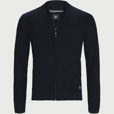 Timo Full Zip Cardigan Regular | Timo Full Zip Cardigan | Blå