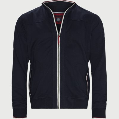 Egmont Zip Slub Sweatshirt Regular | Egmont Zip Slub Sweatshirt | Blå