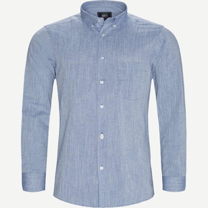 Ascot Chambray CP Skjorte - Skjorter - Regular - Blå