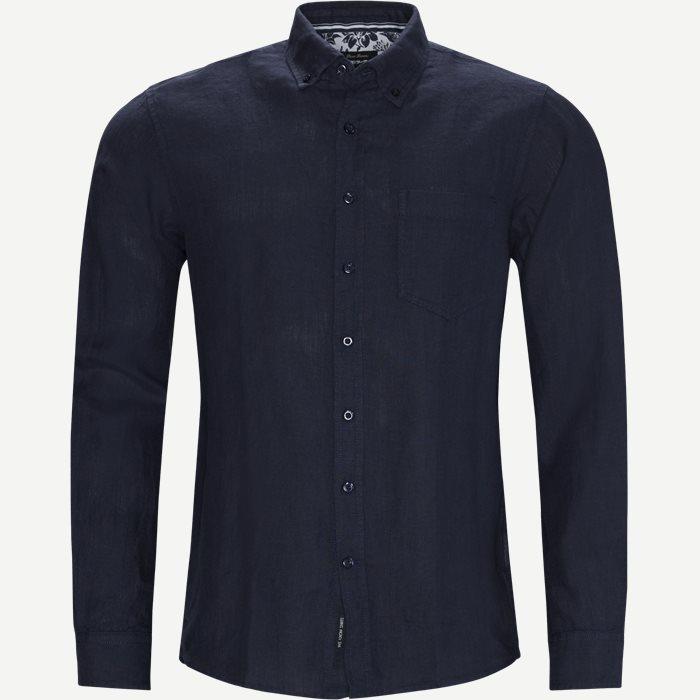 Andreas Linen Skjorte - Skjorter - Regular - Blå