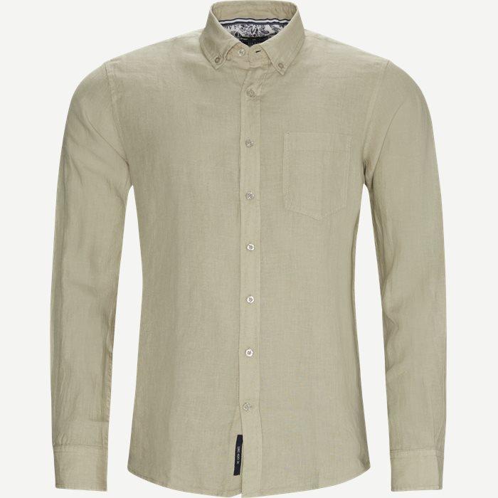 Andreas Linen Skjorte - Skjorter - Regular - Sand