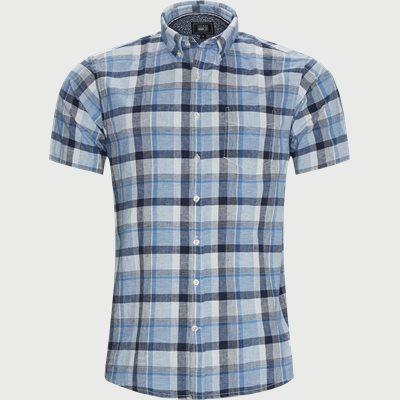 Abel Check CP Kortærmet Skjorte Regular | Abel Check CP Kortærmet Skjorte | Blå
