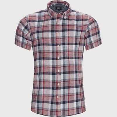 Abel Check CP Kortærmet Skjorte Regular | Abel Check CP Kortærmet Skjorte | Rød