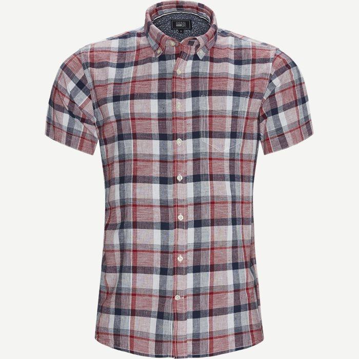 Kortärmade skjortor - Regular - Röd