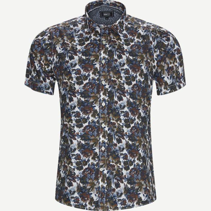 Kortärmade skjortor - Regular - Armé