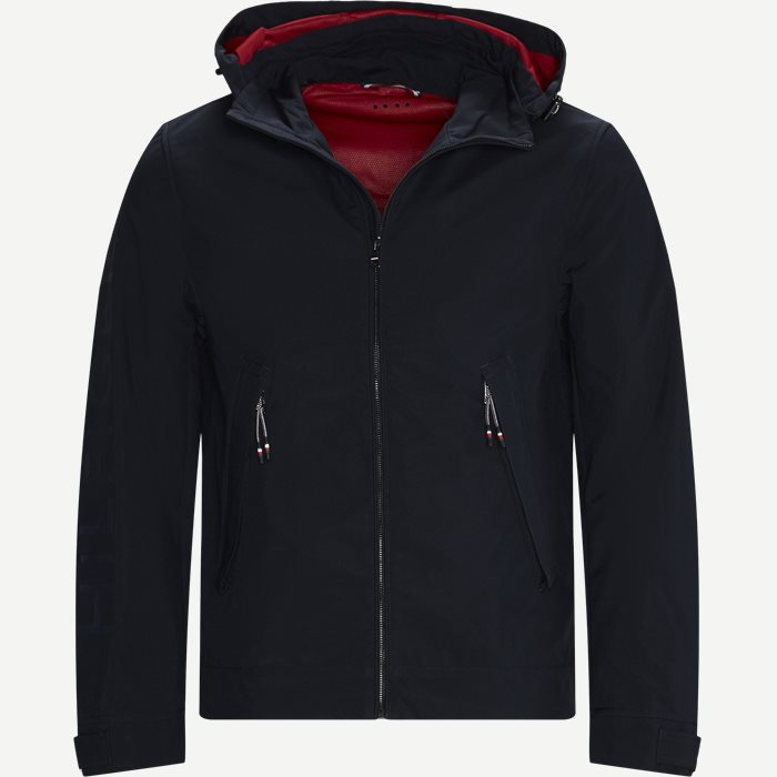 Flex Hooded Blouson Jacket - Jakker - Regular - Blå
