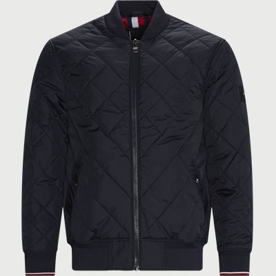 Chewron Quilted Bomber Jacket Regular | Chewron Quilted Bomber Jacket | Blå