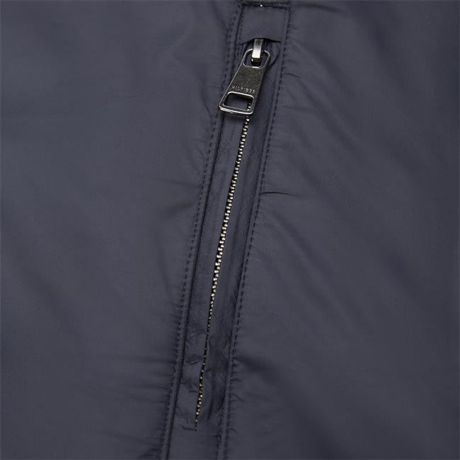 Mixed Media Zip Through Sweatshirt