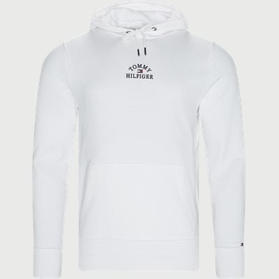 Basic Embroidered Hoody Regular | Basic Embroidered Hoody | Hvid