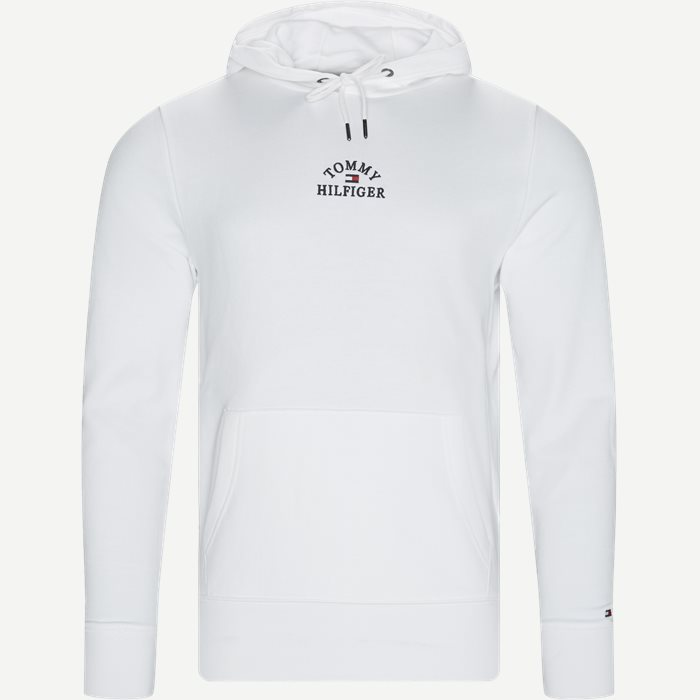 Basic Embroidered Hoody - Sweatshirts - Regular - Hvid
