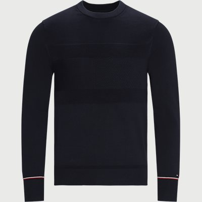 Structured Flag Sweater Regular | Structured Flag Sweater | Blå