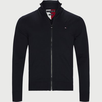Flex Zip Through Cardigan Regular | Flex Zip Through Cardigan | Blå
