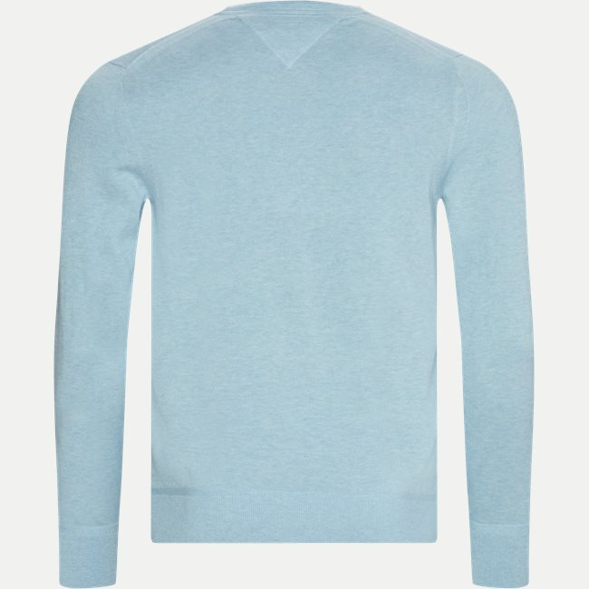 Organic Cotton Silk Crew Neck Striktrøje