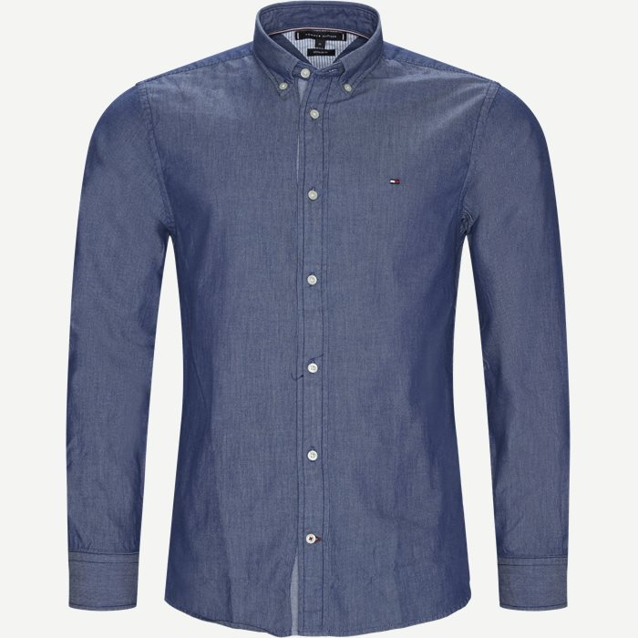 Two Tone Stripe Dobby Shirt - Skjorter - Regular - Blå