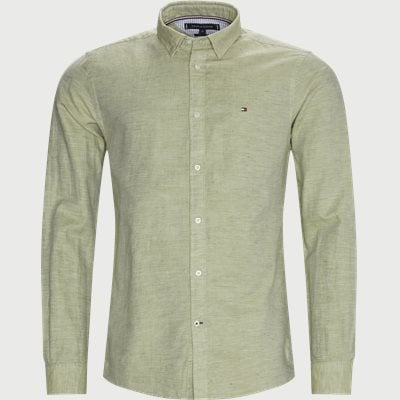 Cotton Linen Twill Shirt Regular | Cotton Linen Twill Shirt | Grøn