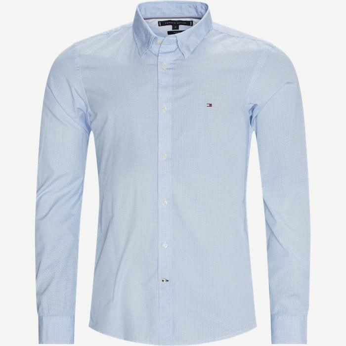 Soft Geo Print Skjorte - Skjorter - Slim - Blå