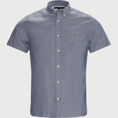 Soft Poplin Kortærmet Skjorte Slim | Soft Poplin Kortærmet Skjorte | Blå