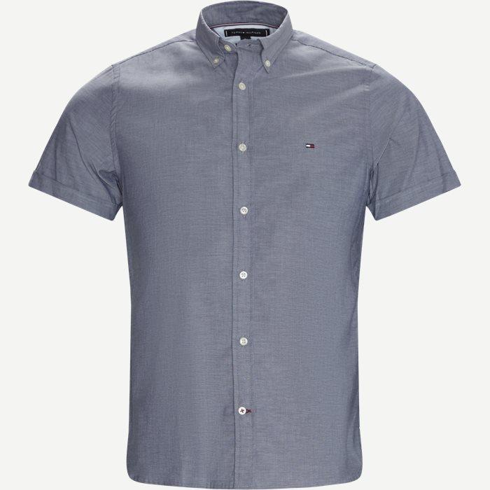 Soft Poplin Kortærmet Skjorte - Kortærmede skjorter - Slim - Blå