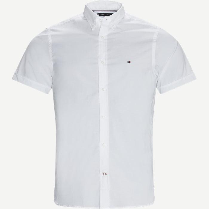 Soft Poplin Kortærmet Skjorte - Kortærmede skjorter - Slim - Hvid
