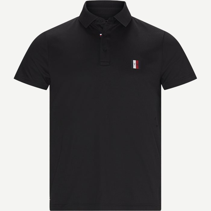 Modern Essentials Slim Polo T-shirt - T-shirts - Slim - Sort