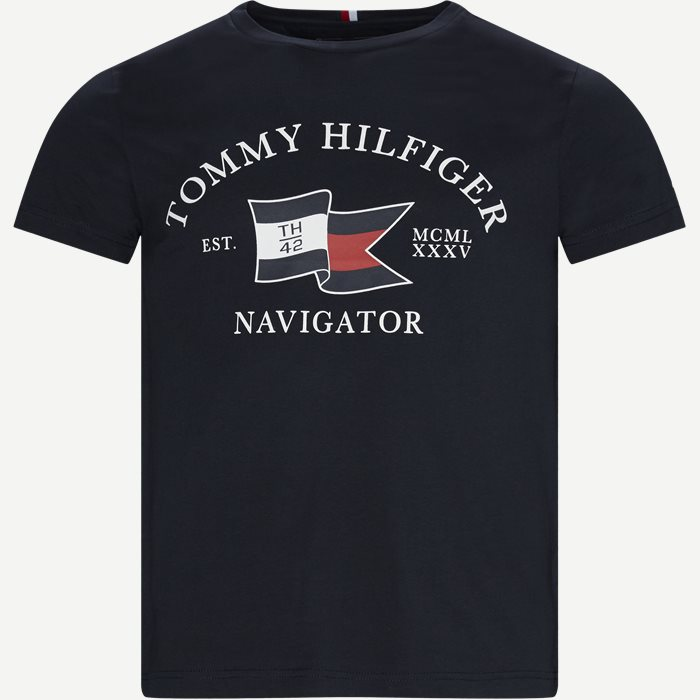 Folded Flag T-shirt - T-shirts - Regular - Blå