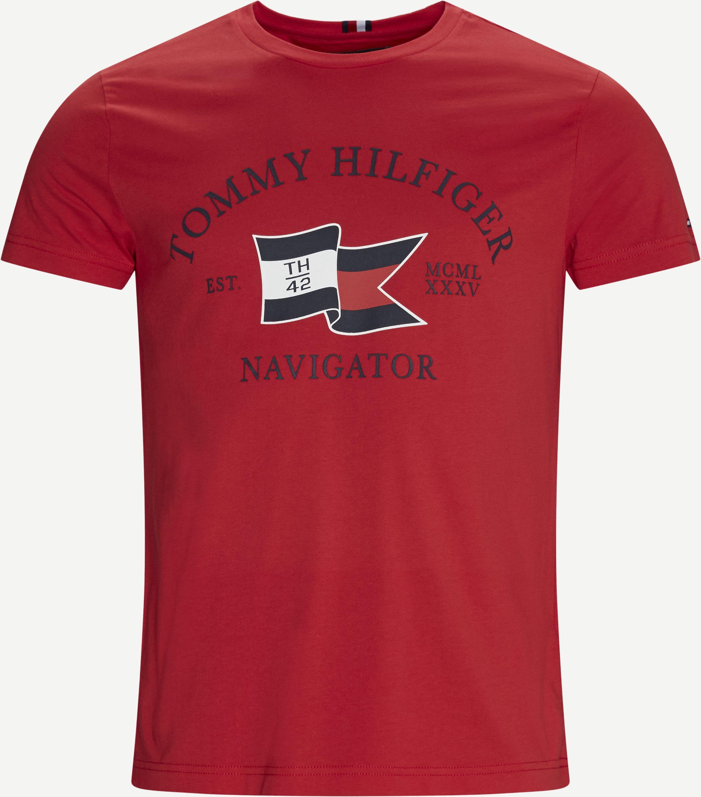 Folded Flag T-shirt - T-shirts - Regular fit - Rød