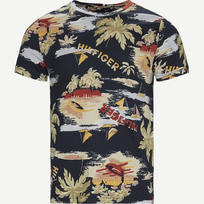 Summer All Over Print T-shirt - T-shirts - Regular - Blå