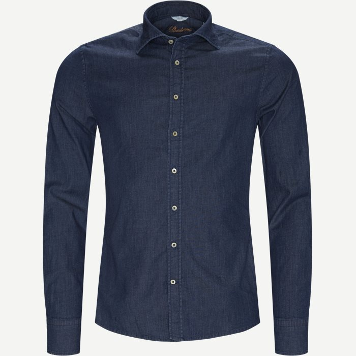 Casual Denim Shirt - Skjorter - Blå