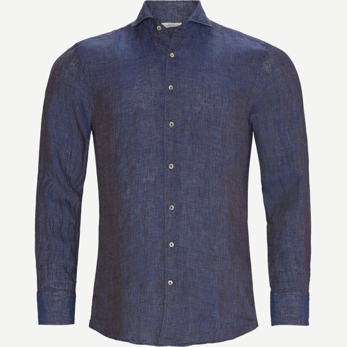 Linen Shirt - Skjorter - Blå
