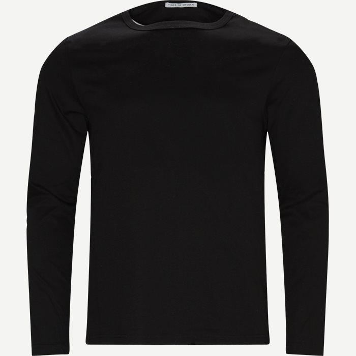 Abalone LS T-shirt - T-shirts - Slim - Sort